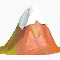 3d cartoon mountain model