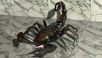 scorpion rigged 3d max