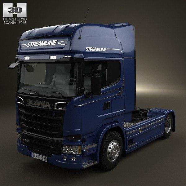 3d scania r 730 model