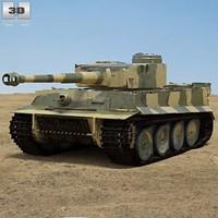 tiger 3d obj