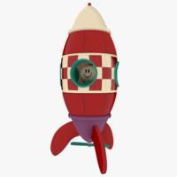 obj toy rocket pbr