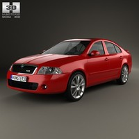 3d model of liftback skoda octavia