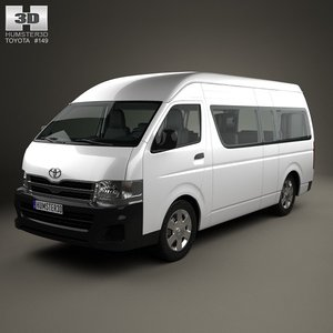 toyota hiace hq 3d model
