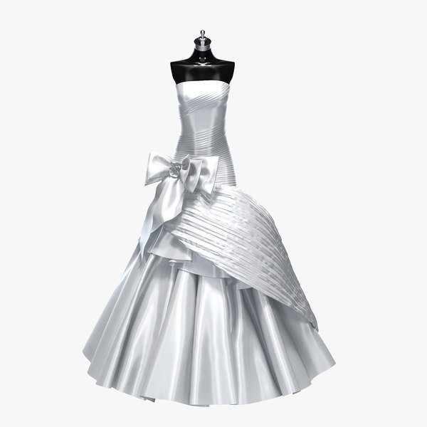 3d max wedding dress