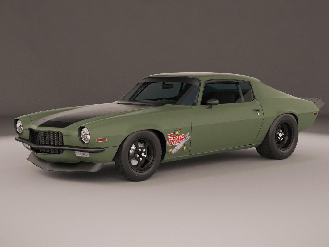 1972 camaro 3d model