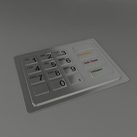 3d metal pin keyboard model