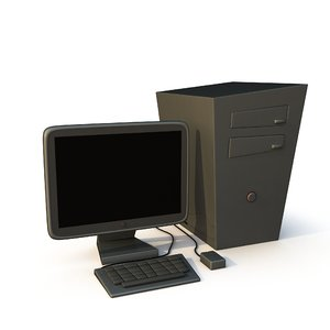 3d model stylized cartoon desktop pc