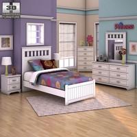 furniture bedroom panels 3d max