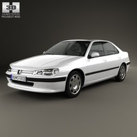 peugeot 406 1995 3d model