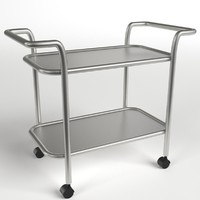3d food beverage trolley cart model