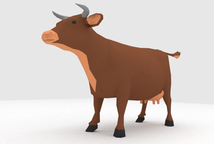 3d model blender animal cow