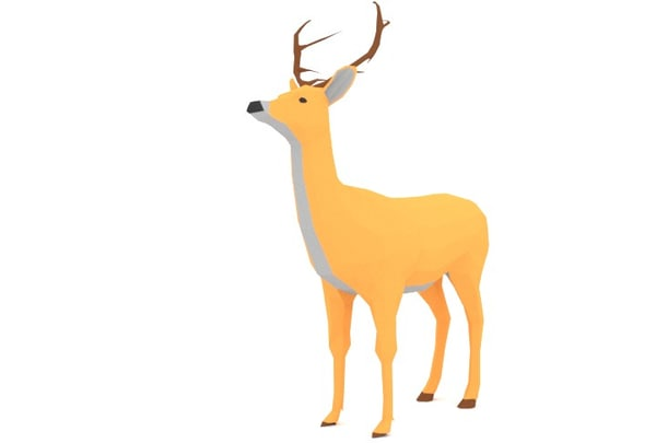 blender deer 3d obj