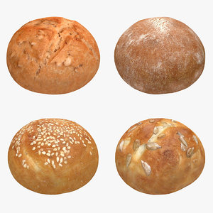 realistic roll set 3ds