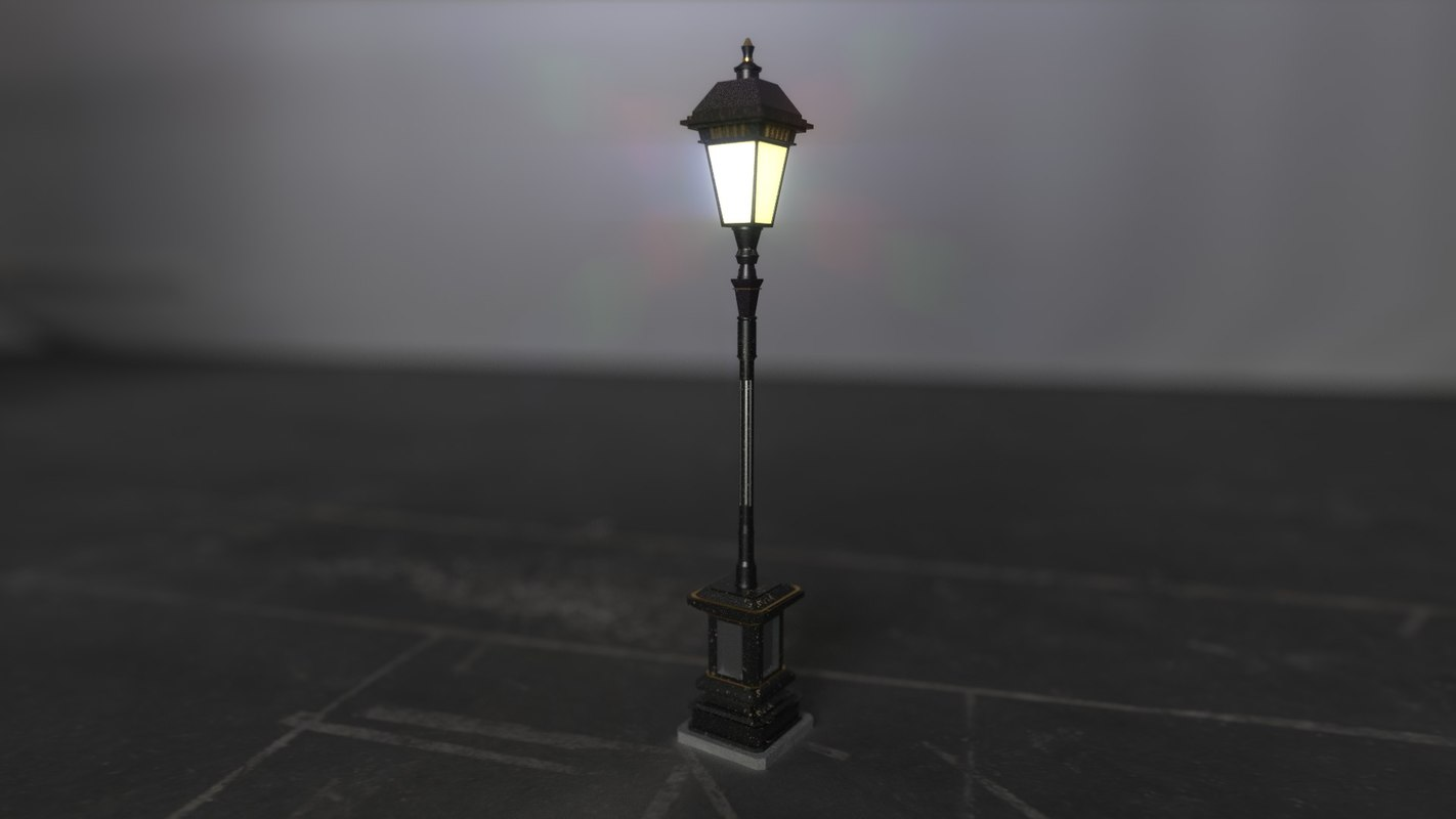 3d old fashion street lamp
