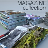 3d model of magazines architecture photography