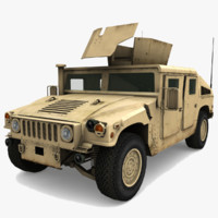 3d military hummer hmmwv vehicle