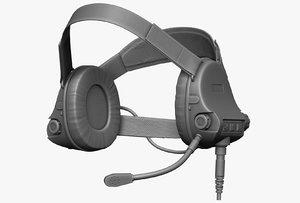 3d model earphones modeled