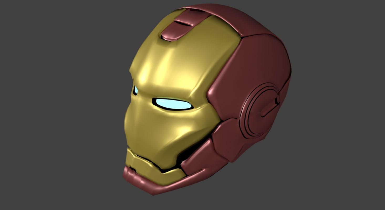 3d model of helmet