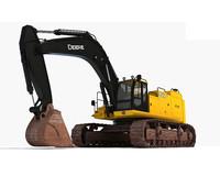 john deere excavator 3d model