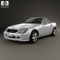 mercedes-benz slk-class slk 3d model