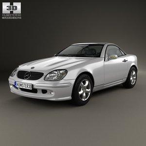 mercedes-benz slk-class slk 3d model