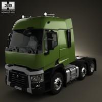 renault t tractor 3d model