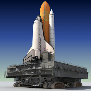 3d model space shuttle launch pad