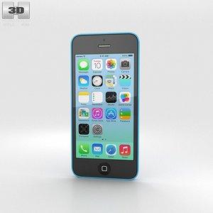 apple 5c iphone 3d model