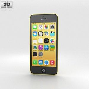 3d apple 5c iphone model