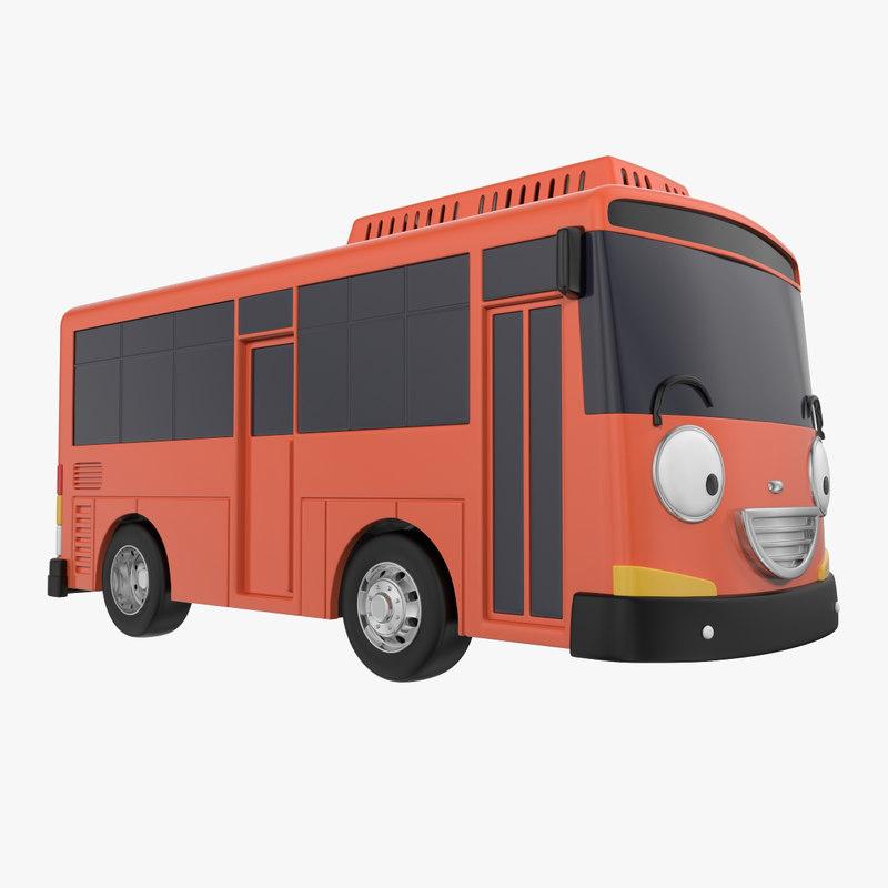 bus car cartoon 3ds