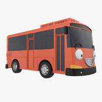 bus car cartoon 3ds