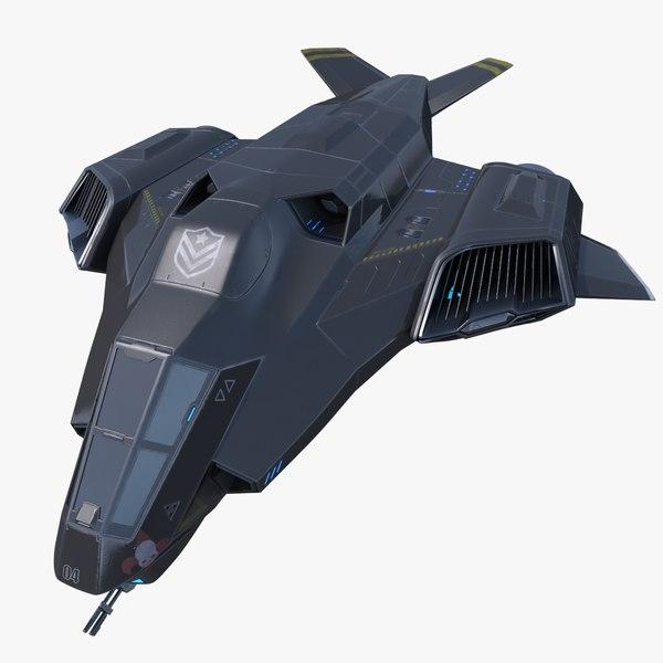 3d model sci-fi spaceship