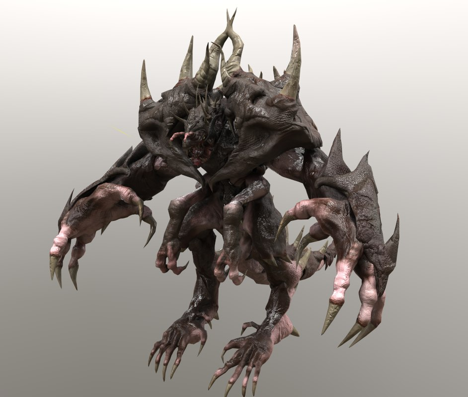 3d hands monster model