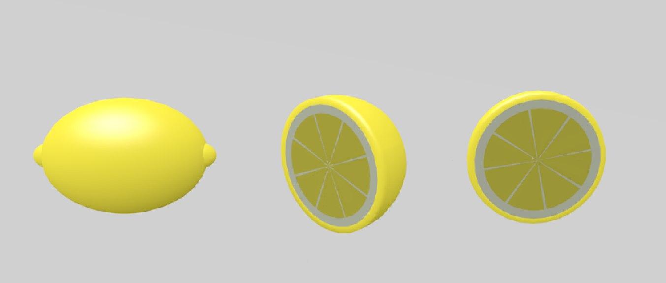 3ds lemon half slice
