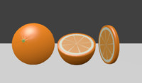orange half slice 3d max