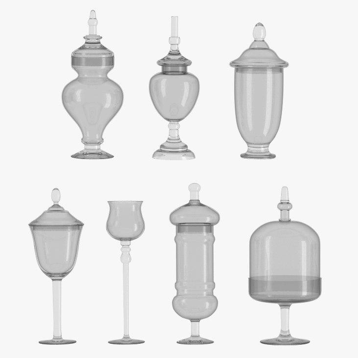 3d glassware glass