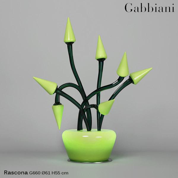 3d model illuminating gabbiani
