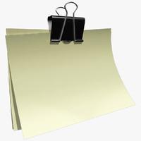 obj paperclip mentalray