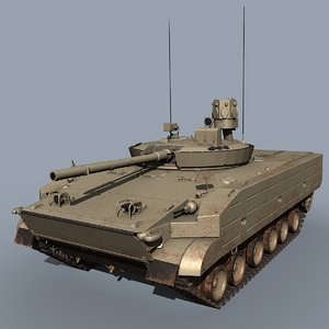 russian bmp-3m arena-e 3d model