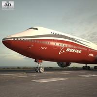 747-8 boeing 747 3d 3ds