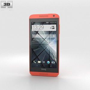 htc desire 610 3d model