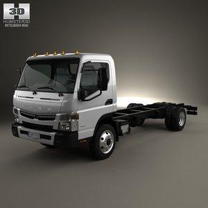 mitsubishi fuso chassis 3d max