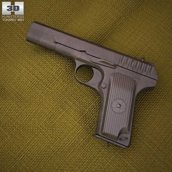 pistol tt 3d model