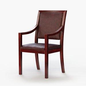 wooden modus chair 3d model