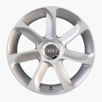 3d model audi tt alloy wheel