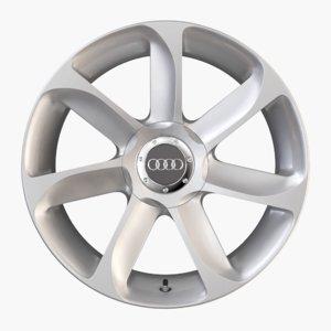 3d model audi tt alloy wheel