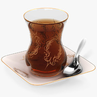 small glass tea 3d 3ds