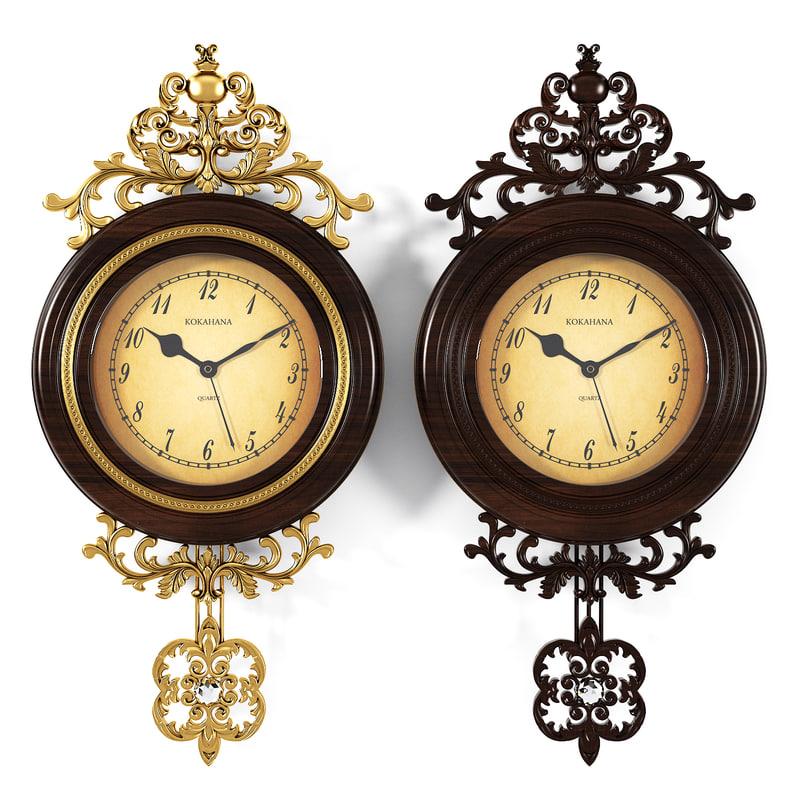 3d model wall clocks