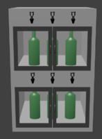 Wine Fridge with taps