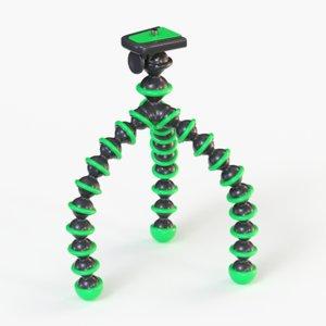 flexible camera tripod 3d obj